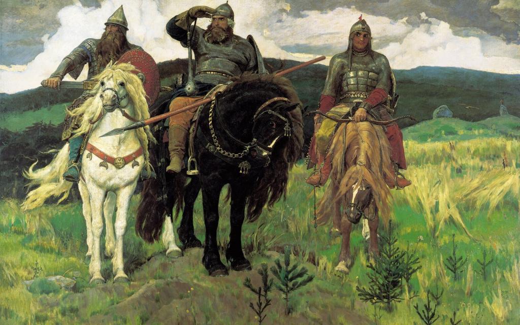 瓦斯涅佐夫的绘画三位英雄