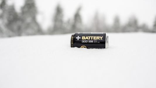 银行能源在雪中