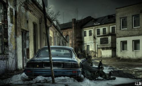 被遗弃的城市在波兰
