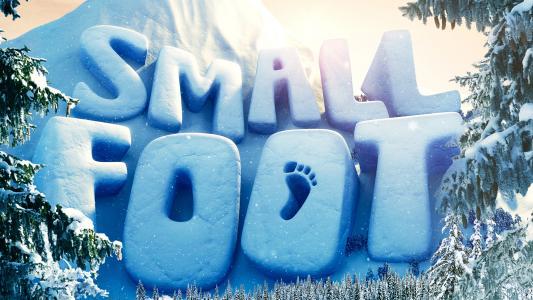 """2018年的新动画电影""""Smallfoot""""的标志"""