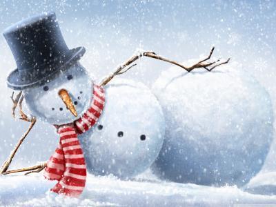 雪人在度假