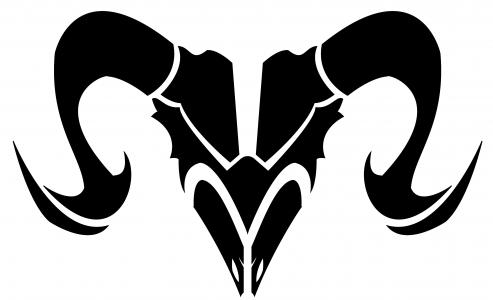 白羊座,黑白图片