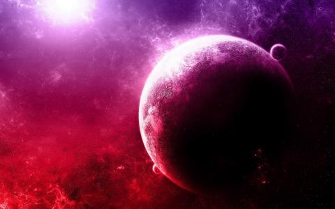 紫色的星球
