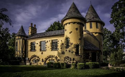 Curwood城堡博物馆,密执安的大厦。