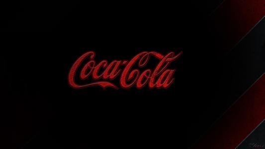 可口可乐饮料,黑背景