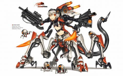 橙色机器人吉亚动漫