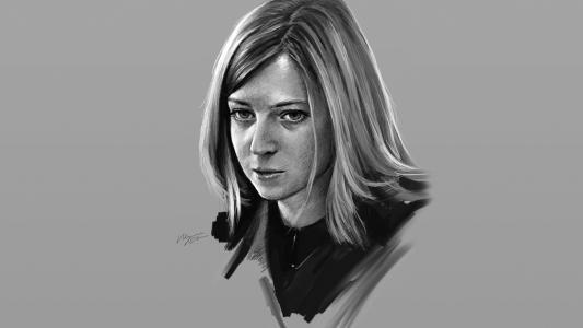 检察官纳塔利娅Poklonskaya严峻的外观