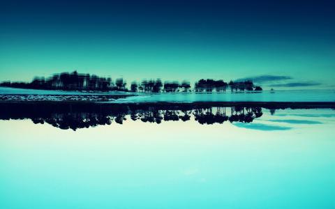 蓝色的反射