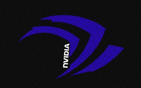 从信件的蓝色Nvidia字符