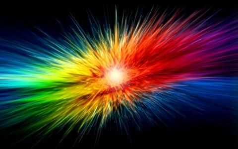 多彩多姿的光线