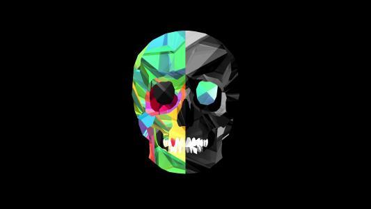 头骨,3D图形