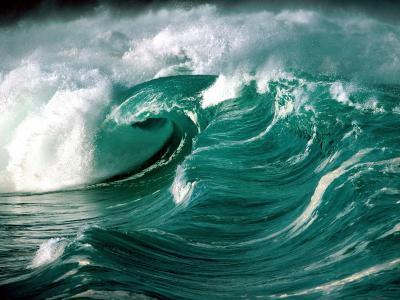 美丽的海浪