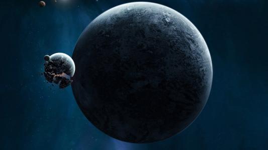 这颗行星的卫星爆炸了