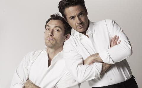 小罗伯特·唐尼(Robert Downey Jr.)和裘德·罗(Jude Law)(Robert Downey JR和Jude Law)