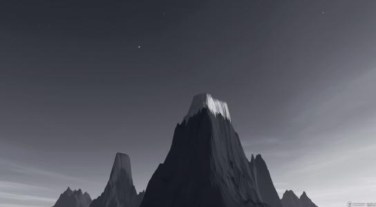雪山上的灰色,3D图形