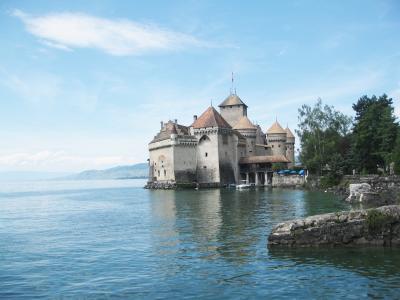 在依云,法国度假胜地的城堡