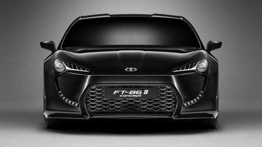 黑色汽车丰田FT-86二概念前视图
