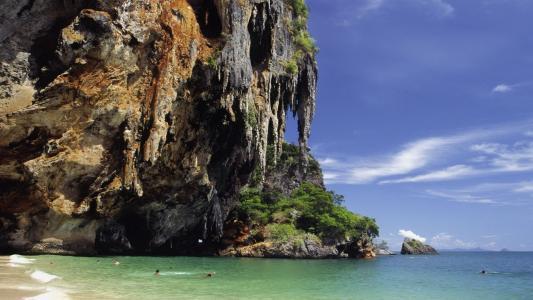 在泰国的海滩