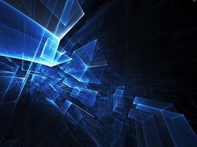 蓝色的抽象数字在空气中的3d图形