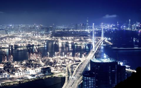 蓝色夜光香港