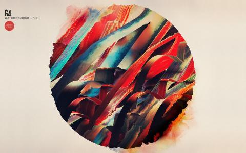 一圈彩色的丝带
