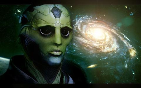 外星人背景下的星系