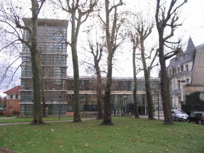 玻璃建筑在维希,法国