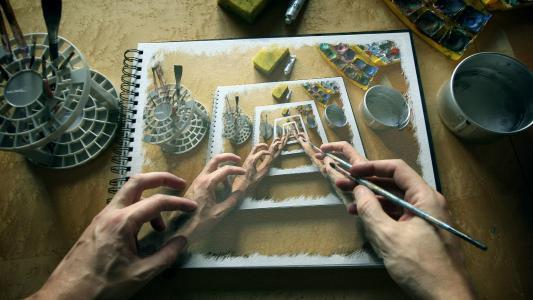 艺术家的手