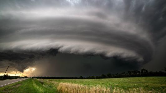 雷暴在美国内布拉斯加州