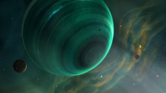 绿色星球的快速旋转