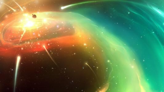 彗星在太空中的云