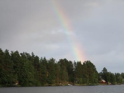 彩虹春天的早晨