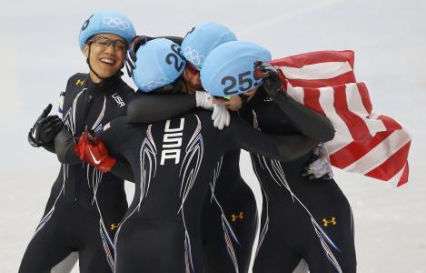 约旦马龙美国短距离银牌在索契2014年