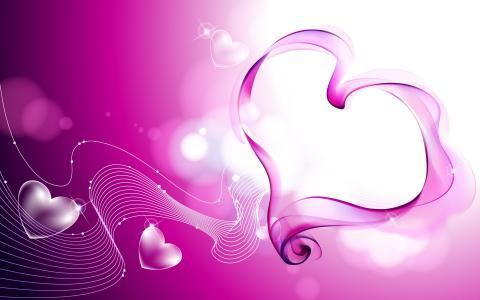 美丽的粉红色心