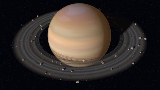 行星土星与圆环