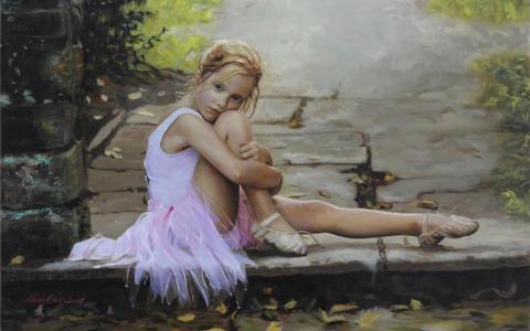 小女孩芭蕾舞女演员