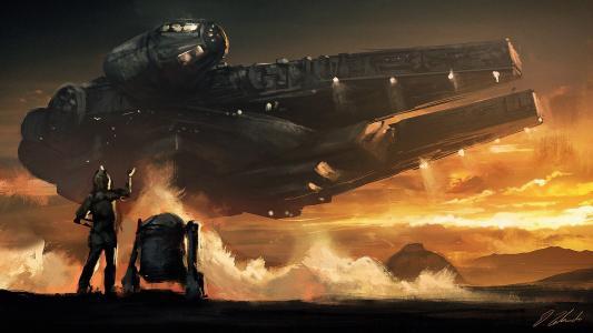 艺术到电影星球大战,千年猎鹰