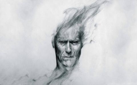 老人的脸,画
