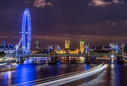 摩天轮在伦敦