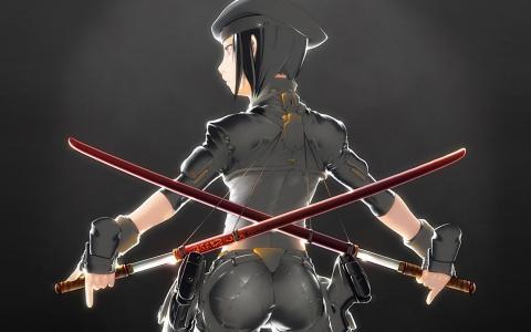 两把剑在十字架上交叉