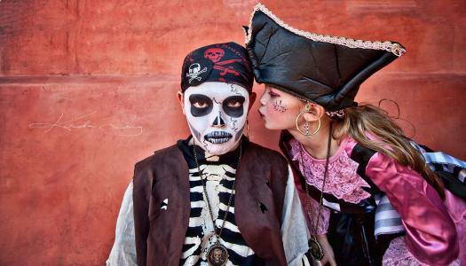 女孩,那家伙,海盗,嘉年华,面具