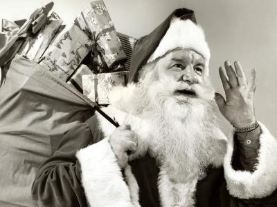 黑色和白色圣诞老人
