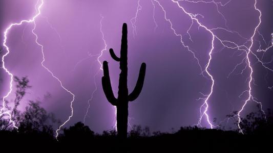 在亚利桑那州的雷暴