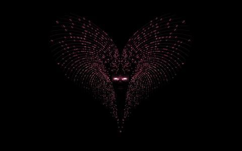 在黑暗中的面具