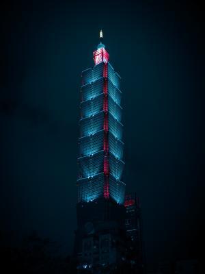漂亮的台北101大楼