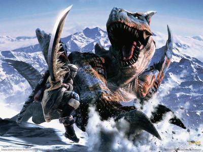 与山中的恐龙战斗