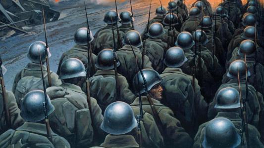 士兵去打仗