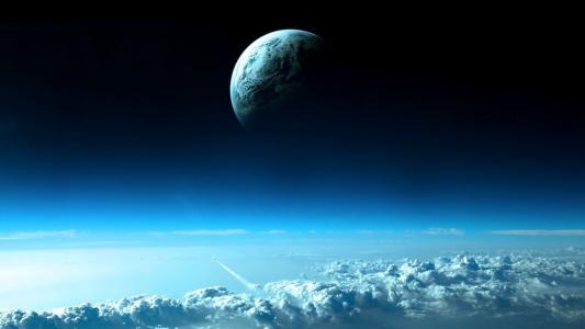 云层上方的行星