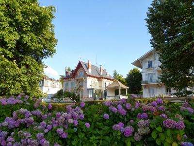 在依云,法国度假胜地的花朵