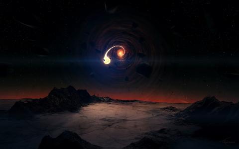 地球不可避免地飞入黑洞